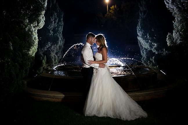 Night wedding photography